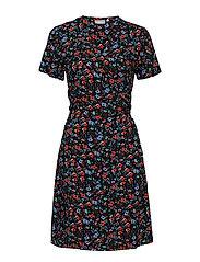 BYHAILEY WRAP DRESS - - BLACK SMALL FLOWER COMBI 3