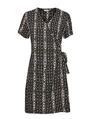 BYHAILEY WRAP DRESS - - BLACK TRIBAL COMBI 4