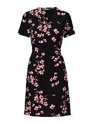 BYHAILEY WRAP DRESS - - ROSE FLOWER COMBI 9