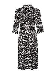 BYGAGINE DRESS - - BLACK COMBI