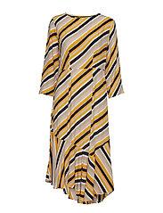 BYGABBY DRESS - - GOLDEN GLOW COMBI 1