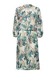BYFLOREANCE FLOWER DRESS - - OFF WHITE COMBI 1