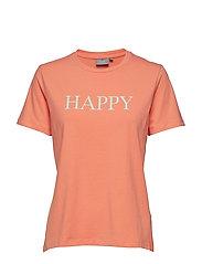 BYPANDINA HAPPY TSHIRT - - FUSION CORAL