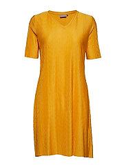 BYTRISHA DRESS - - GOLDEN GLOW