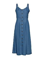 BYHARIMO DRESS - - MED. BLUE DENIM