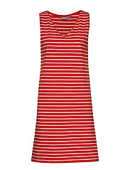 BYPANDINA SL DRESS - - SPICY RED COMBI 2