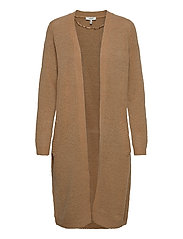 BYMIRELLE LONG CARDIGAN 3 - - MEL. GOLDEN SAND