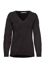 BYMALEA V NECK JUMPER - - BLACK