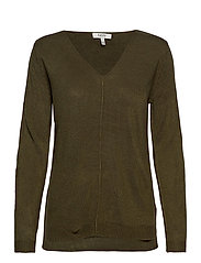 BYMALEA V NECK JUMPER - - OLIVE NIGHT