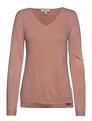 BYMALEA V NECK JUMPER - - WARM ROSE