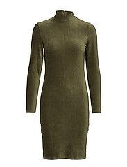 BYPONSA DRESS - - OLIVE NIGHT