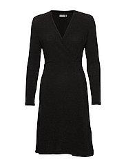 BYSELBY DRESS - - BLACK GLITTER