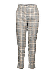 BXDANNA CROPPED PANTS - - CHECK COMBI 1