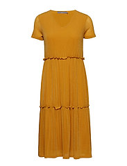 BXTENNE DRESS - - GOLDEN GLOW
