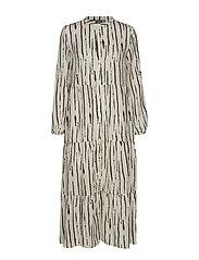 BXHARMONY DRESS - - OFF WHITE COMBI 1