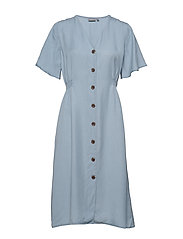 BYHARIMO DRESS - - CHAMBRAY BLUE