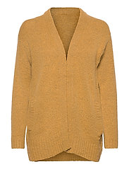 BYMIRELLE SHORT CARDIGAN 2 - - MEL. HONEY MUSTARD
