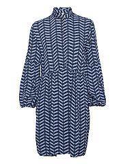 BYHENNA DRESS - - COUNTRY BLUE MIX