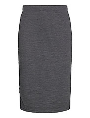 BYRASSA SKIRT - - DARK GREY MELANGE