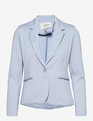 b.young - Rizetta blazer - - casual blazers - brunnera blue melange - 0