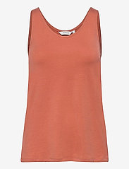b.young - BYREXIMA TANK TOP - - linnen - etruscan red - 0
