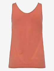 b.young - BYREXIMA TANK TOP - - linnen - etruscan red - 1