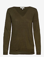 b.young - BYMALEA V NECK JUMPER - - jumpers - olive night - 0