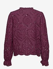 b.young - BYGABRIELLA BLOUSE - - long sleeved blouses - winetasting - 1