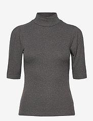 b.young - BYTOELLA SS TSHIRT - - t-shirts - dark grey melange - 0