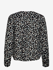 b.young - BYIDRA V NECK BLOUSE - - long sleeved blouses - black mix - 1