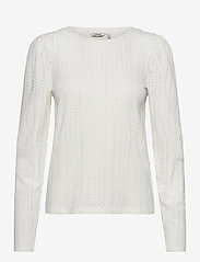 b.young - BYPIANNA LACE TSHIRT - - long-sleeved tops - off white - 0