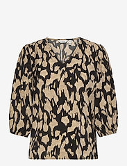 b.young - BXGALLI BLOUSE - long sleeved blouses - sesam mix - 0