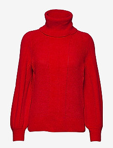 Naba roll neck - - polotröjor - chinese red