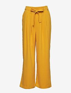 BYDENISE WIDE PANTS - - spodnie szerokie - golden glow