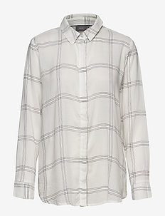 BYHILMA SHIRT - - long-sleeved shirts - off white combi 1