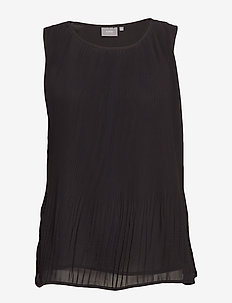 BYJENCIA PLISSE TOP - - black