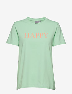 BYPANDINA HAPPY TSHIRT - - PASTEL MINT