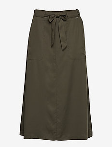 BYINGA SKIRT W BELT - - PEAT GREEN