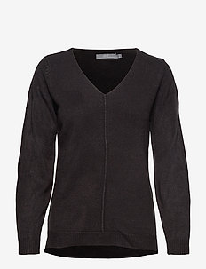 BYMALEA V NECK JUMPER - - pulls - black