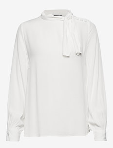 BYGABBY BUTTON BLOUSE - - OFF WHITE