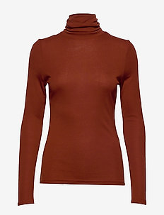 BYRELLA ROLL NECK - - polotröjor - dark copper