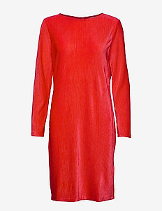 BYTALLY DRESS - - CHINESE RED