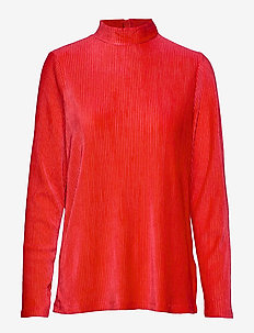 BYTALLY PULLOVER - - CHINESE RED