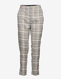 BXDANNA CROPPED PANTS - - spodnie proste - check combi 1