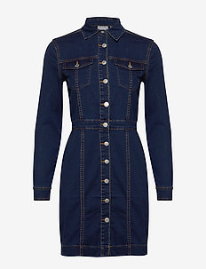 BYLIKA DRESS 1 - - shirt dresses - blue denim