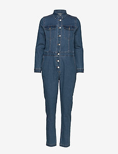 BYLIKA BOILERSUIT - - MED. BLUE DENIM