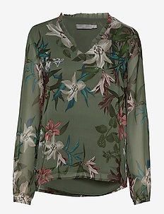 BYHALE BLOUSE - - SEA GREEN COMBI 1