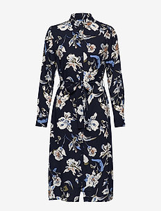 BYILENA SHIRT DRESS - - COPENHAGEN NIGHT COMBI 2