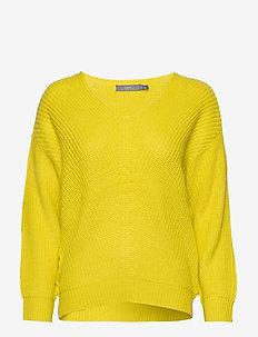 BYMELISSA V-NECK - - truien - acid yellow