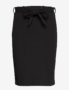 BYTAVI BELT SKIRT - - midi rokken - black